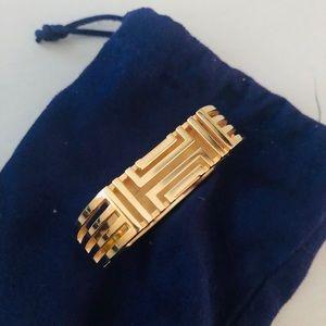 Tory Burch Fitbit Hinged Gold Bangle Bracelet.